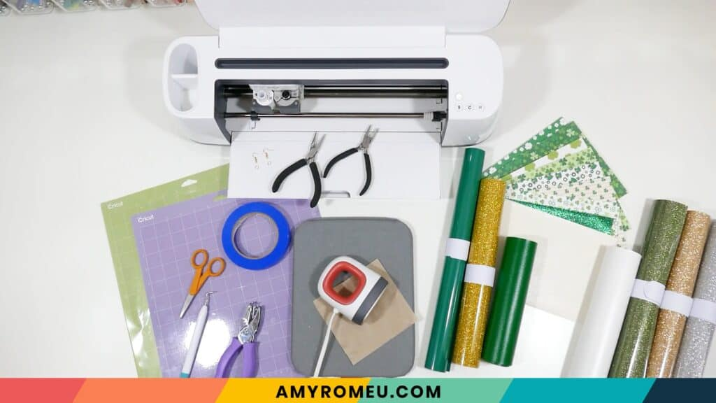 cricut st. patrick's day earring materials
