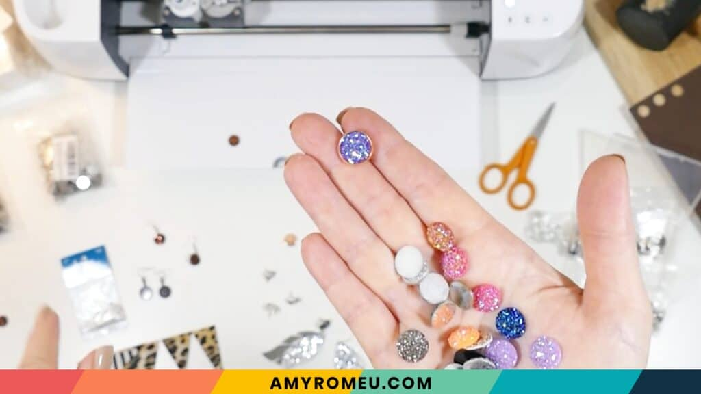 druzy cabochons for making stud earrings