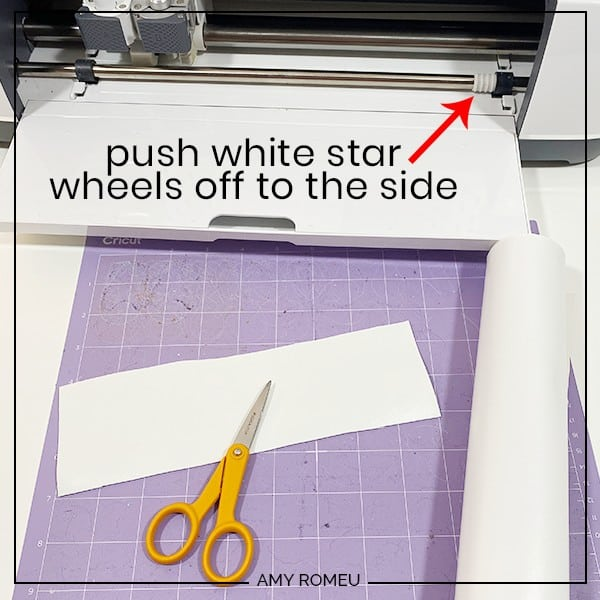 purple cutting mat with faux leather and cricut maker