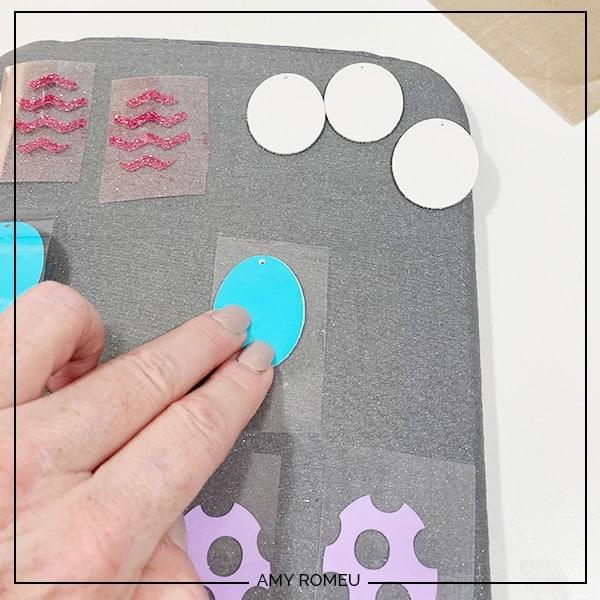 pressing layered easter egg earrings