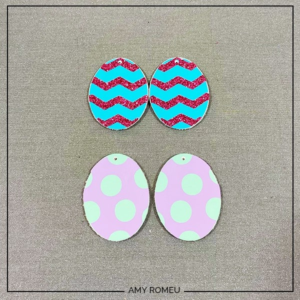 finished layered easter egg earrings