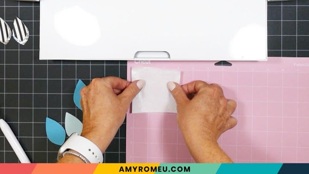 heat n' bond on pink Cricut mat
