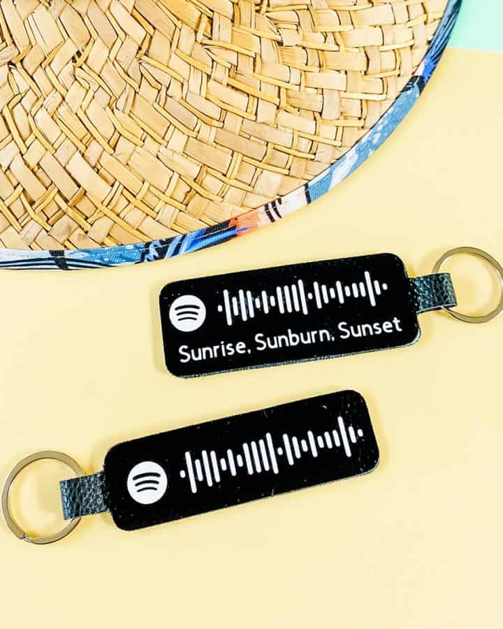 Spotify Code Keychain DIY Cricut Tutorial