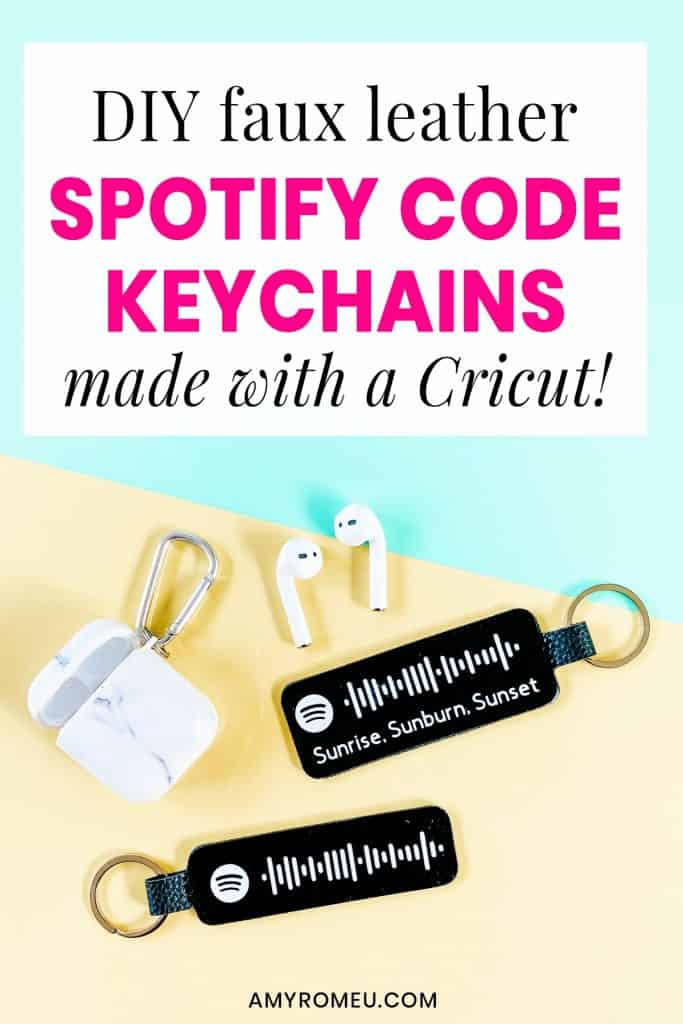 faux leather spotify code keychains