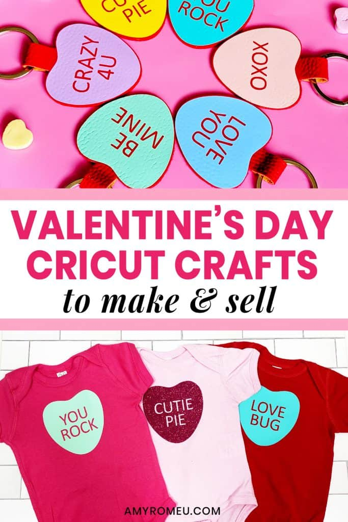 Valentine's Day Cricut Crafts to Make and Sell