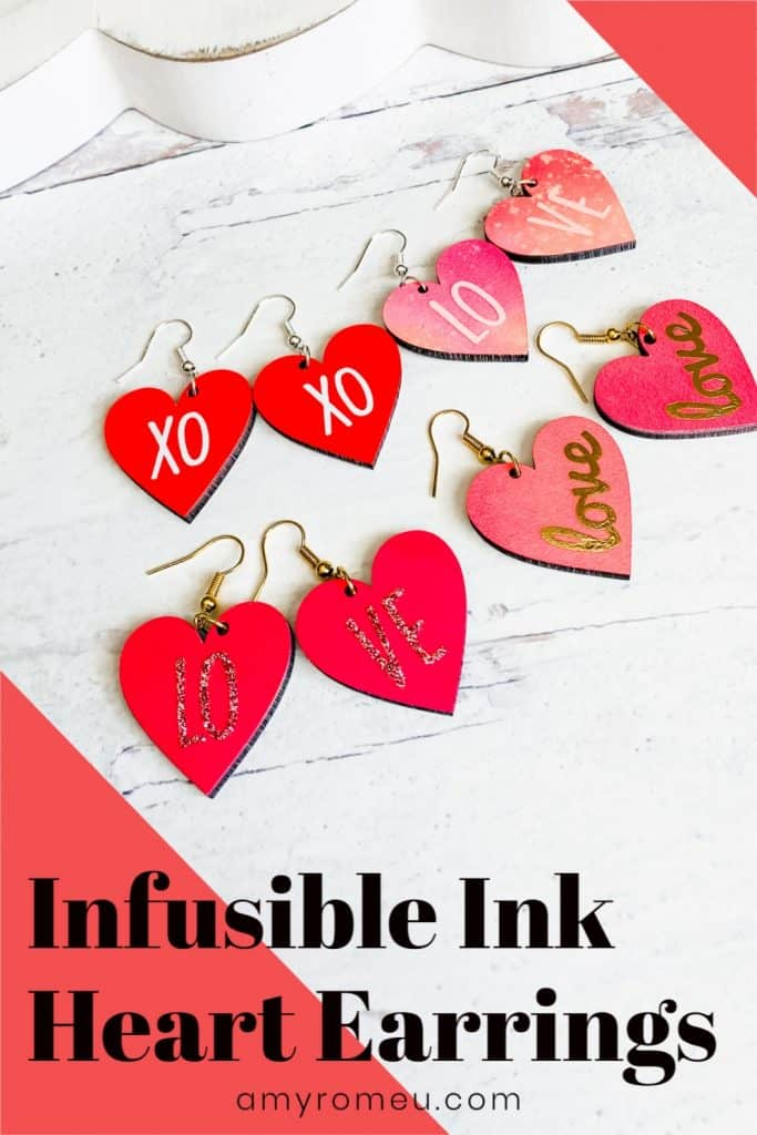 earrings made with infusible ink
