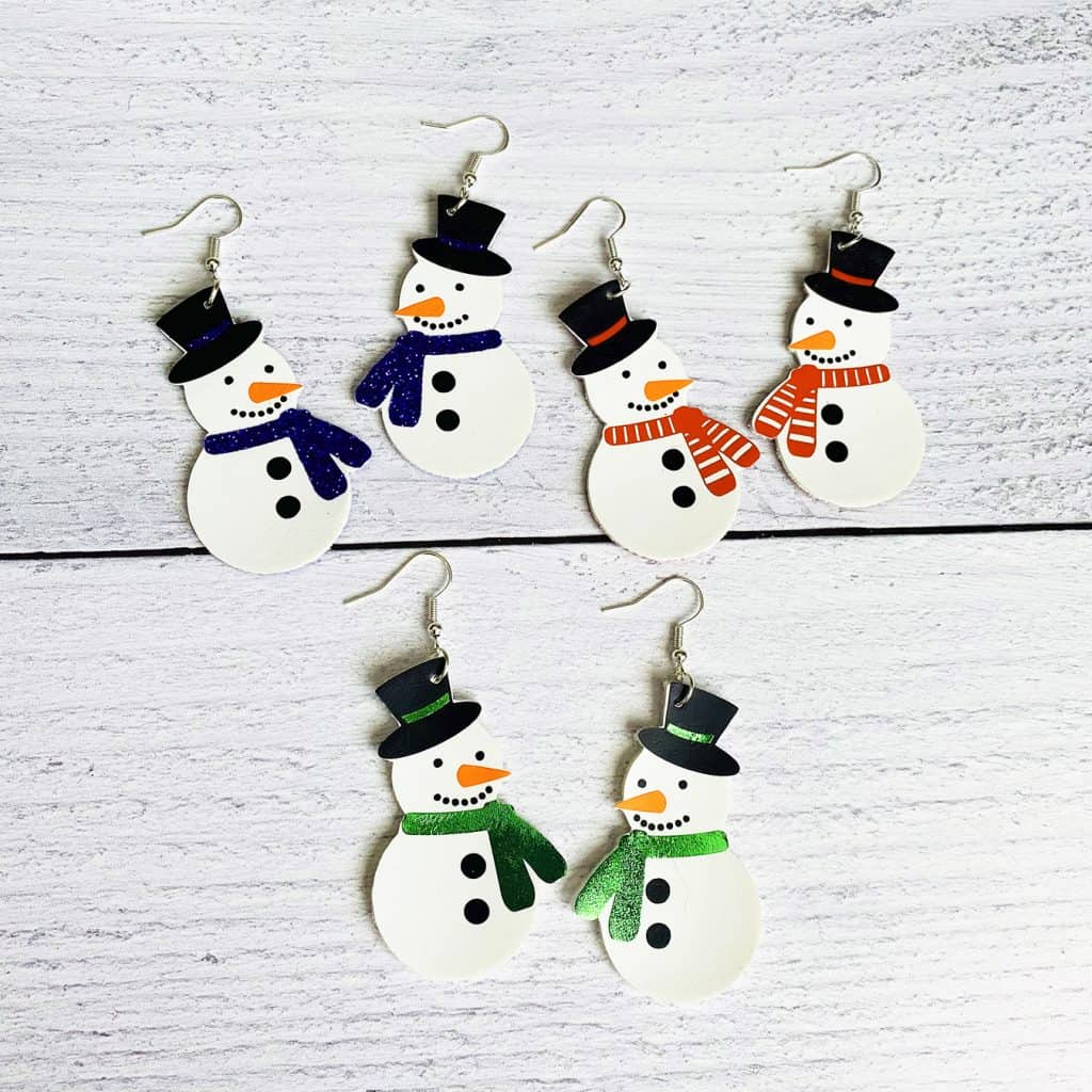 Snowman Earrings DIY