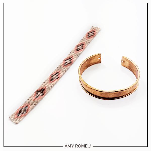 peyote stitch bracelet cuff