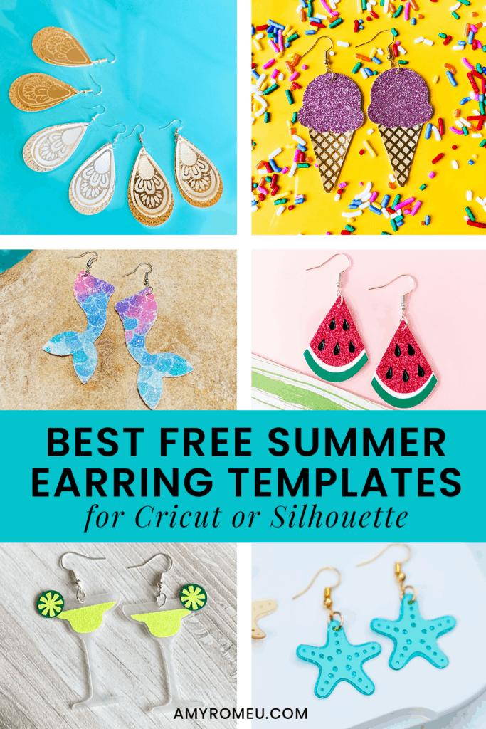 summer earring SVG cut files