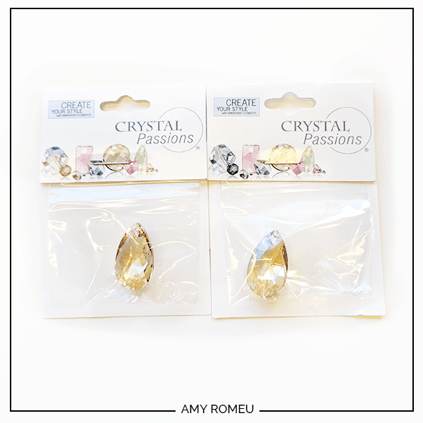swarovksi crystal pear drops