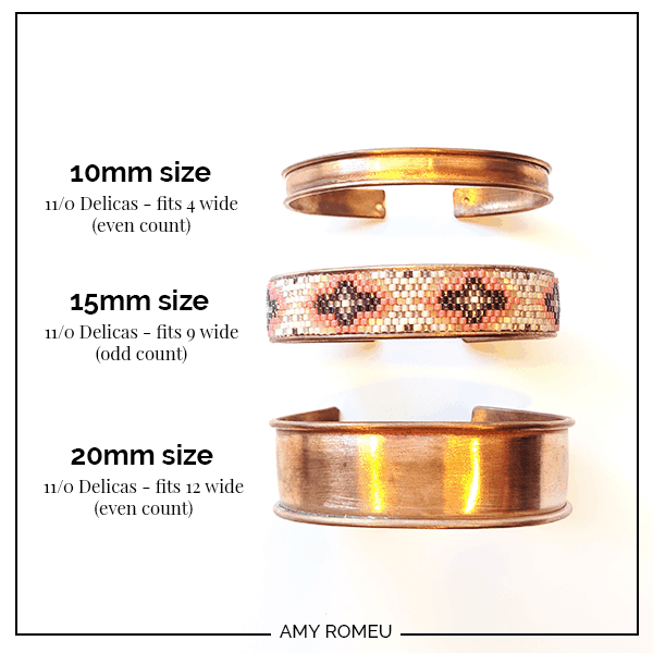 cuff bracelet blanks in different sizes
