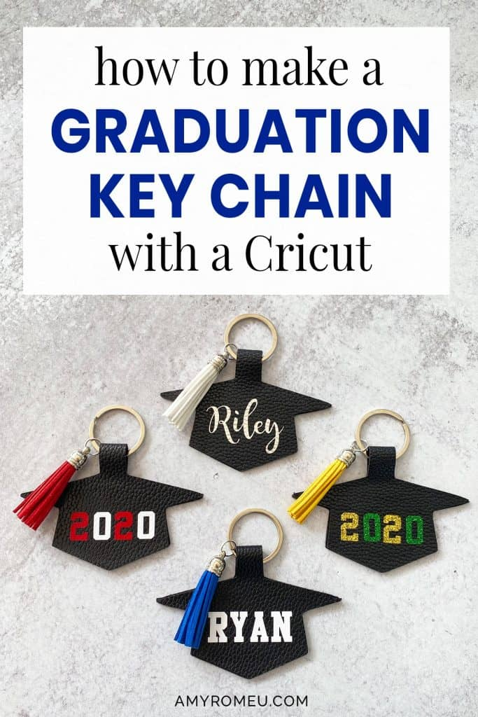 diy graduation keychain made with acricut