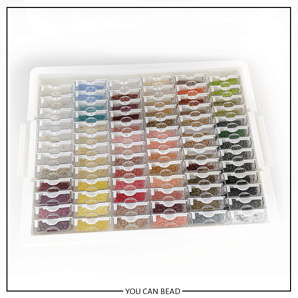 bead box filled with jewelry making supplies