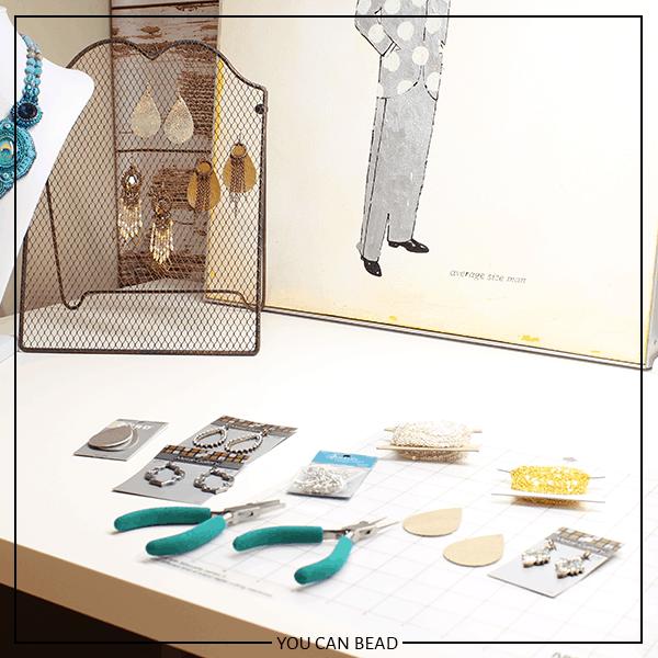 bead studio in a closet