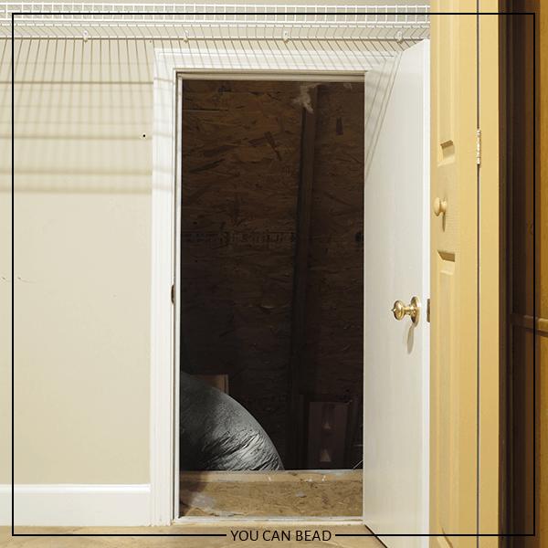 view inside attic door in a closet