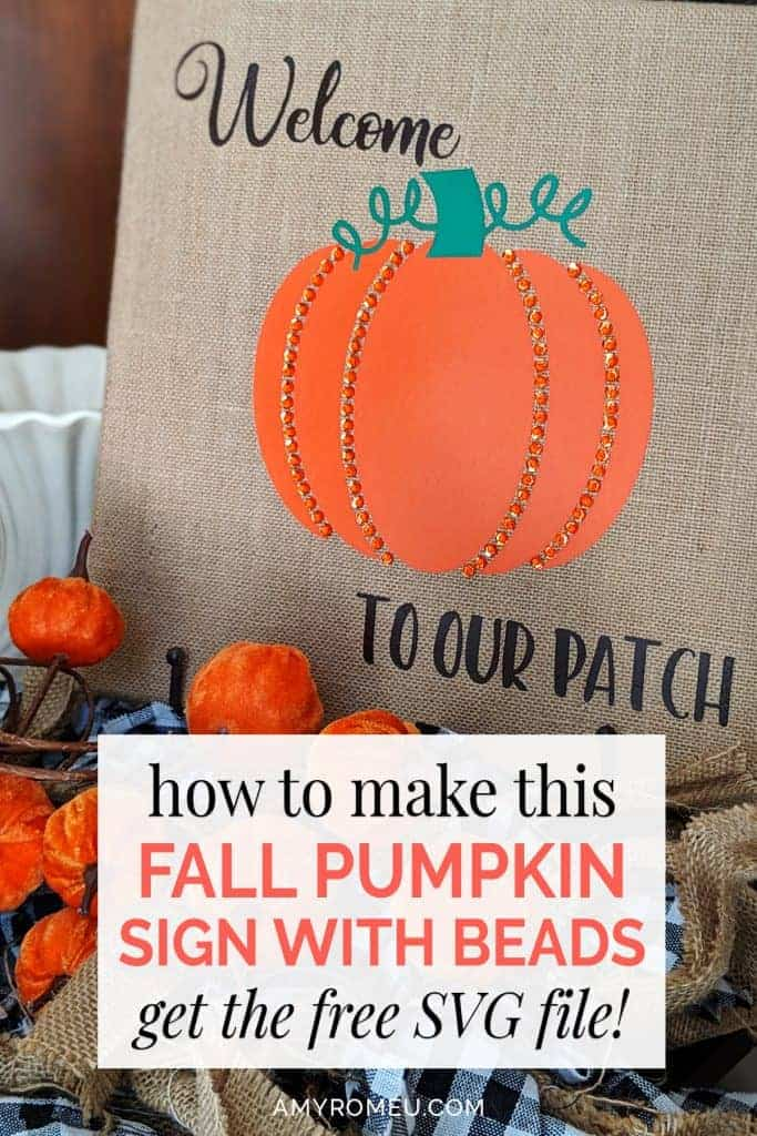 how to make a fall decor beaded pumpkin canvas sign with beads