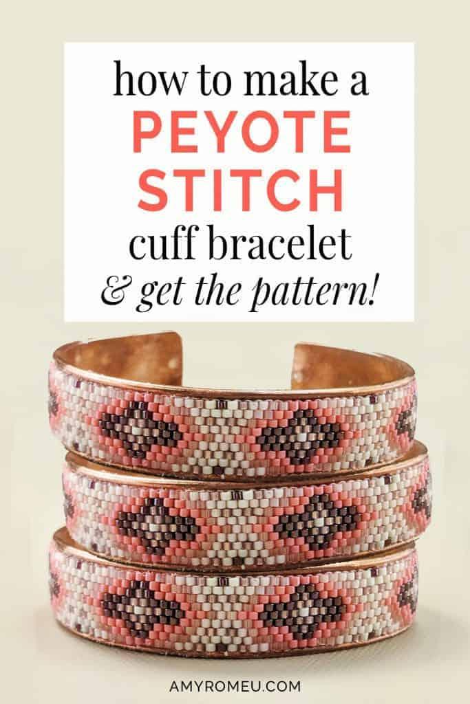 peyote stitch beaded cuff