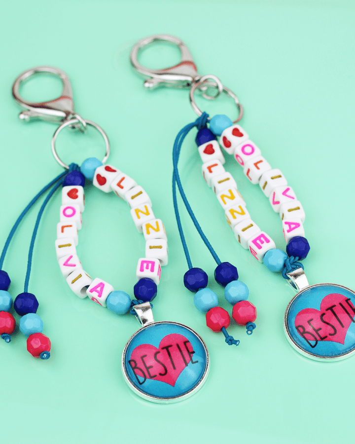 best friend backpack keychains