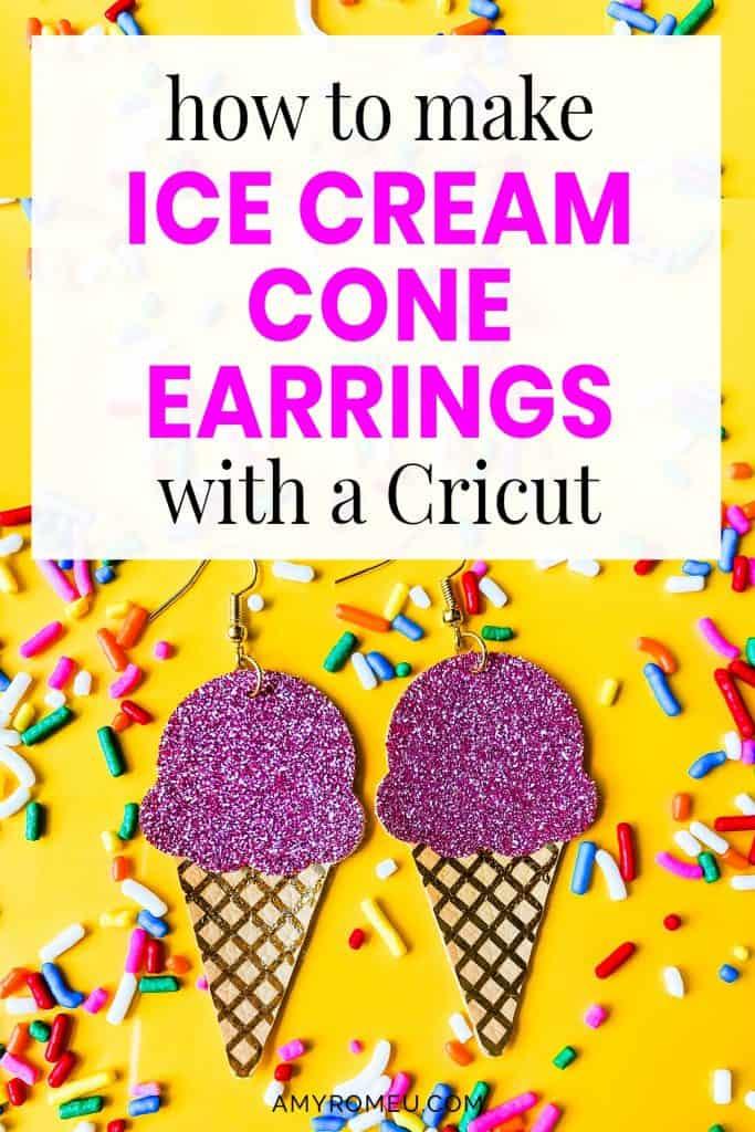 birthday party ice cream cone earrings