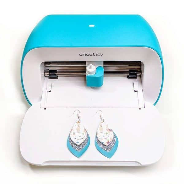 earrings made with a Cricut Joy