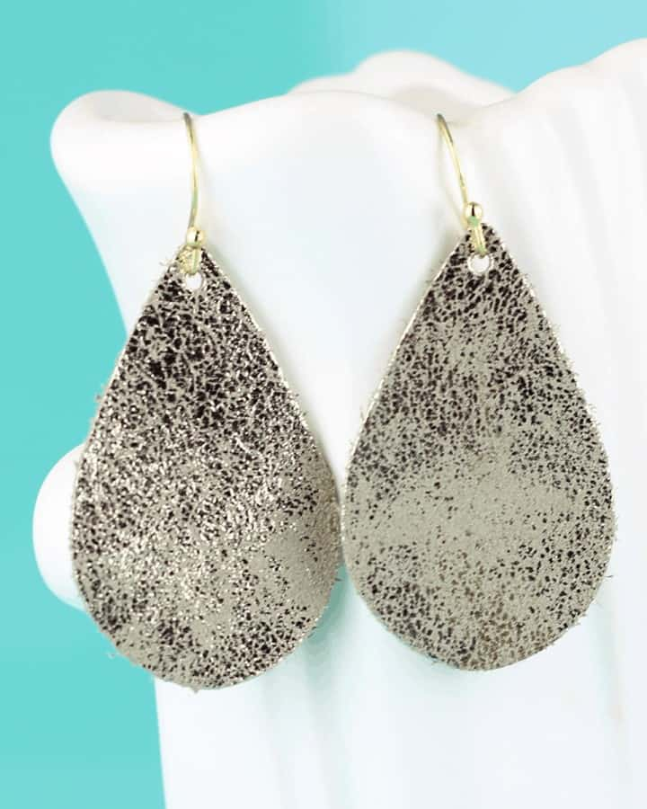 leather teardrop earrings