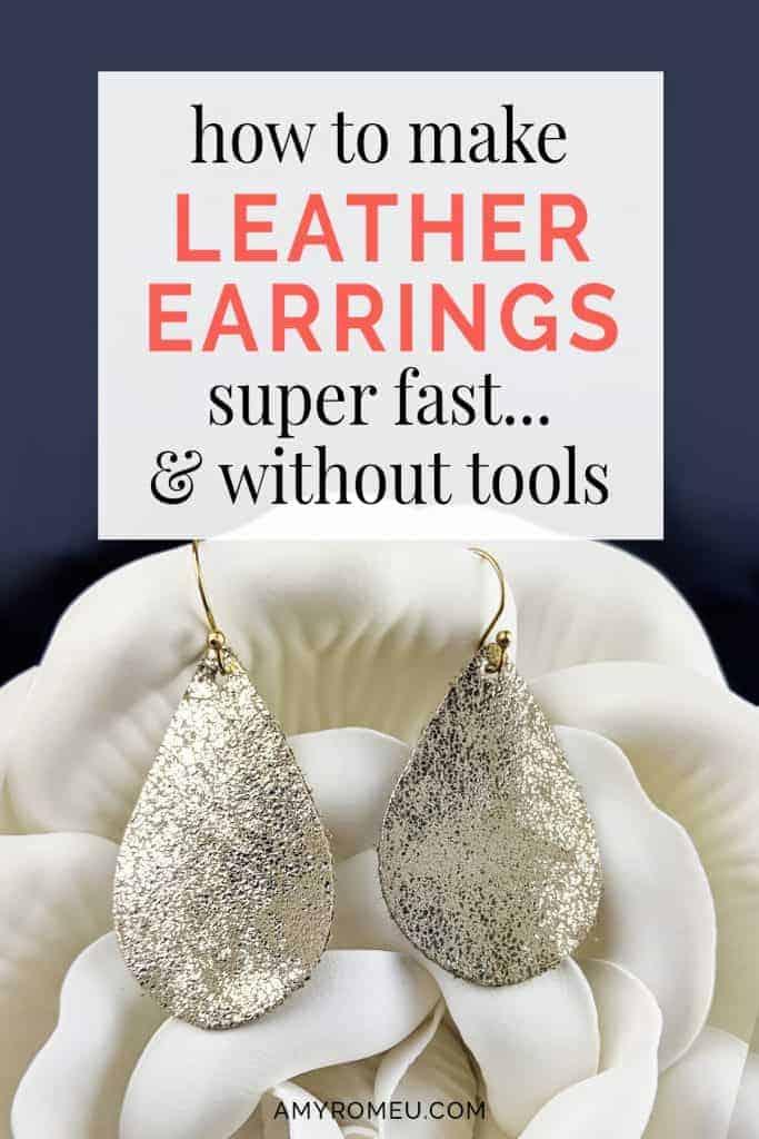 DIY leather earrings tutorial