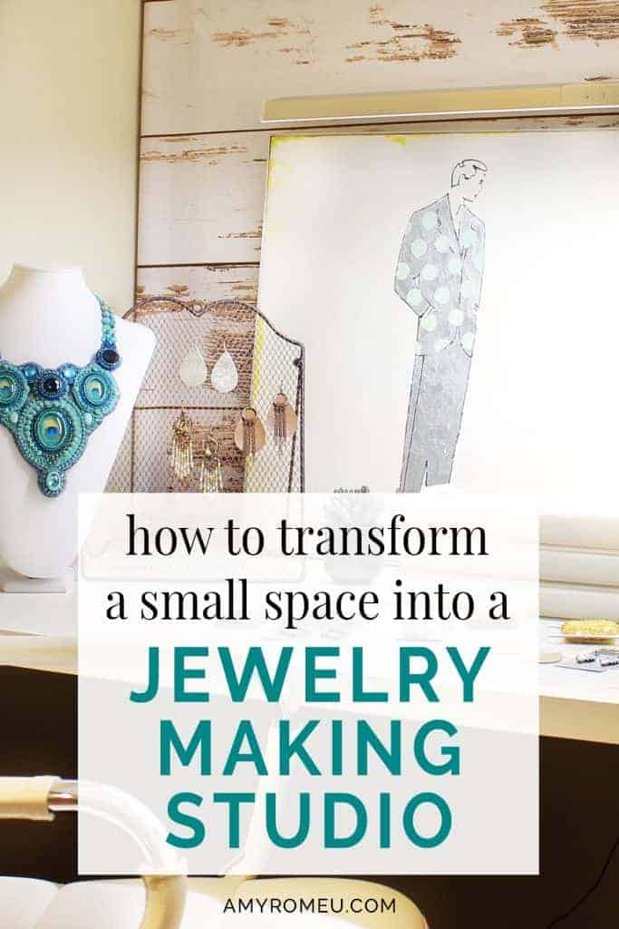 jewelry making work table in a small space