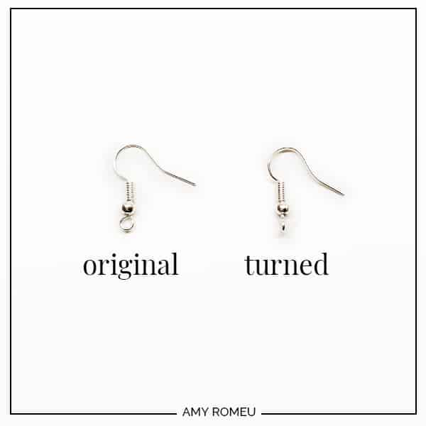 twisted fishhook earrings