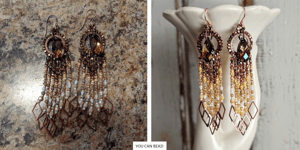 mistakes etsy jewelry sellers make - good and bad earring photography