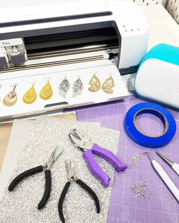 cricut earrings supply list