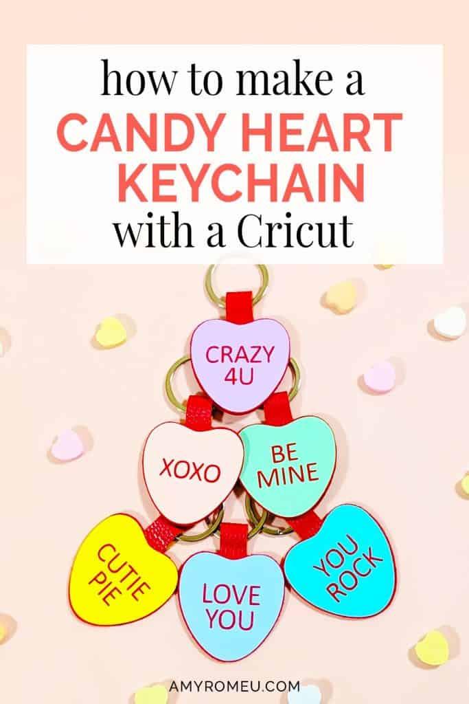 DIY conversation candy heart keychains