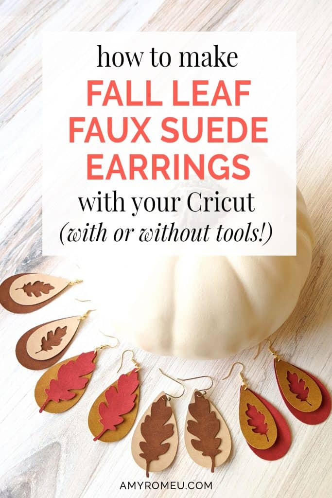 fall leaf faux suede earrings