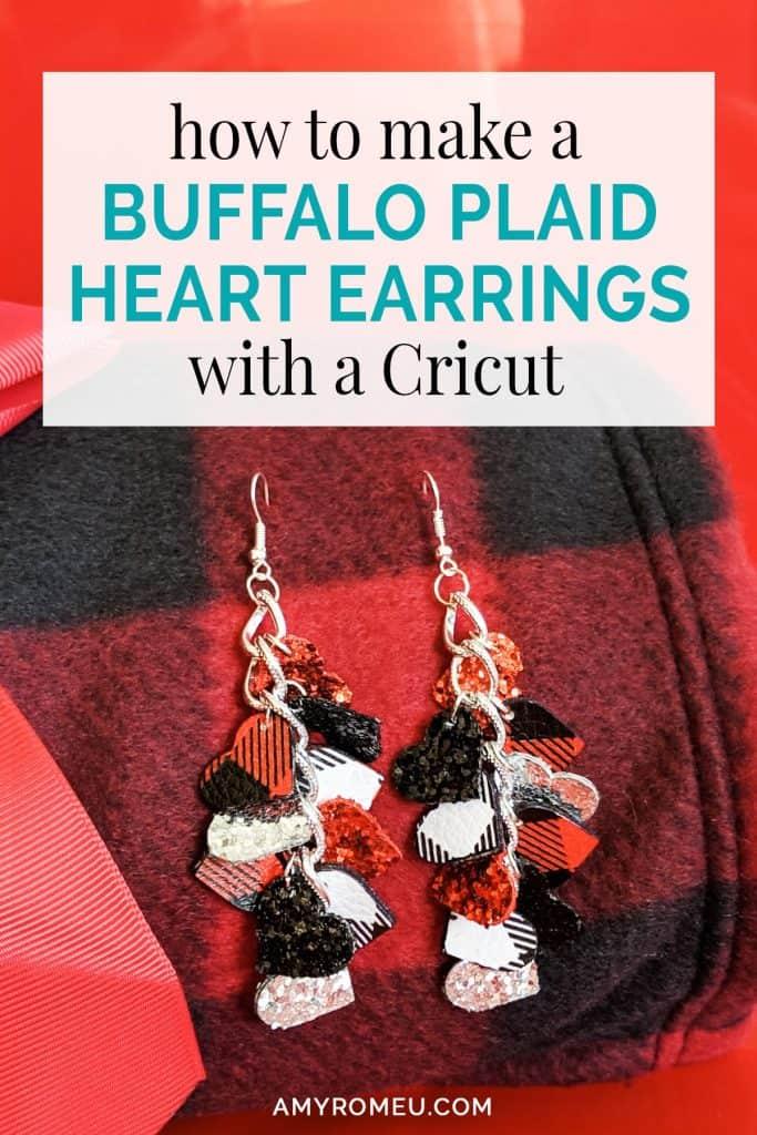 Cricut Buffalo Plaid DIY Earrings