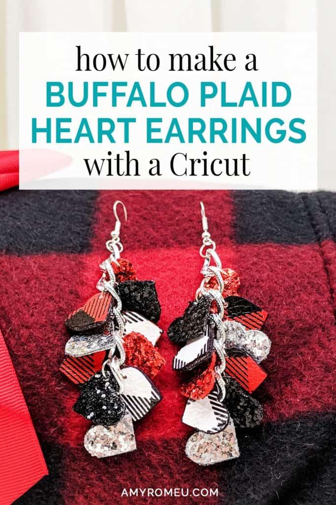 buffalo plaid DIY earrings