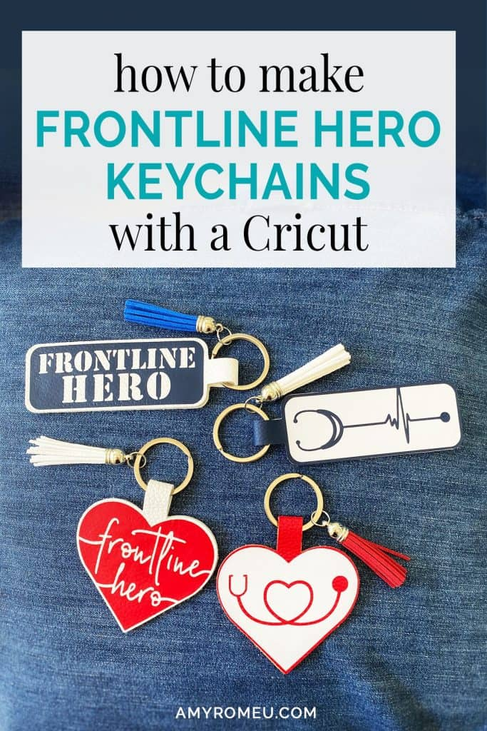 faux leather keychains for frontline heroes, medical professionals