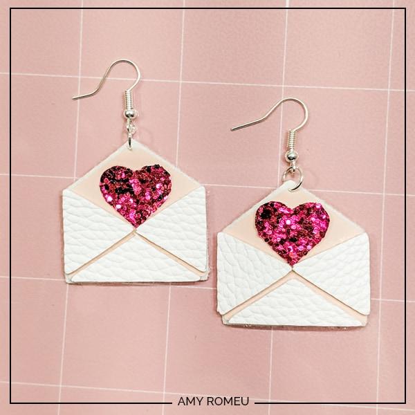 love letter valentine's day earrings