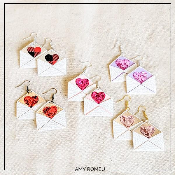 Cricut love letter earrings DIY