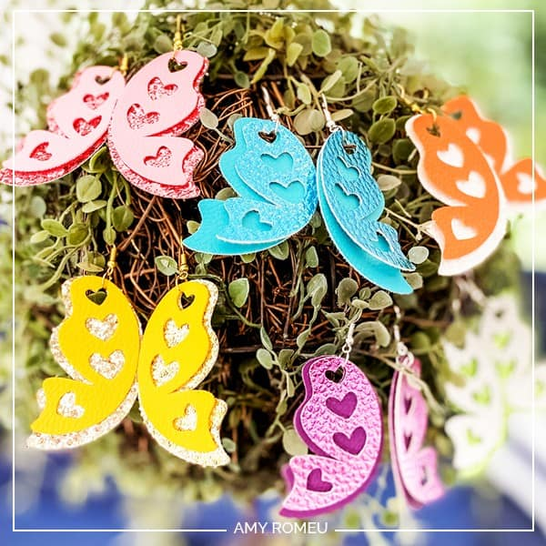 How to Make Butterfly Wing Earrings With a Cricut