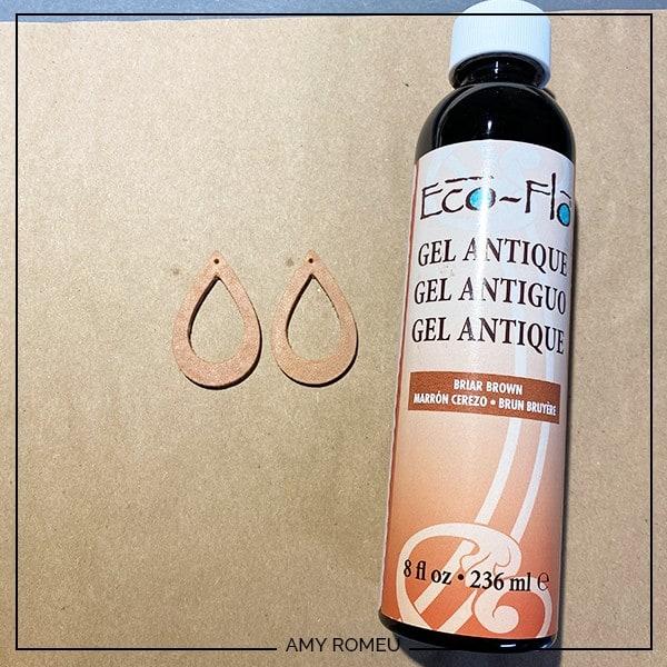 gel stain leather earrings