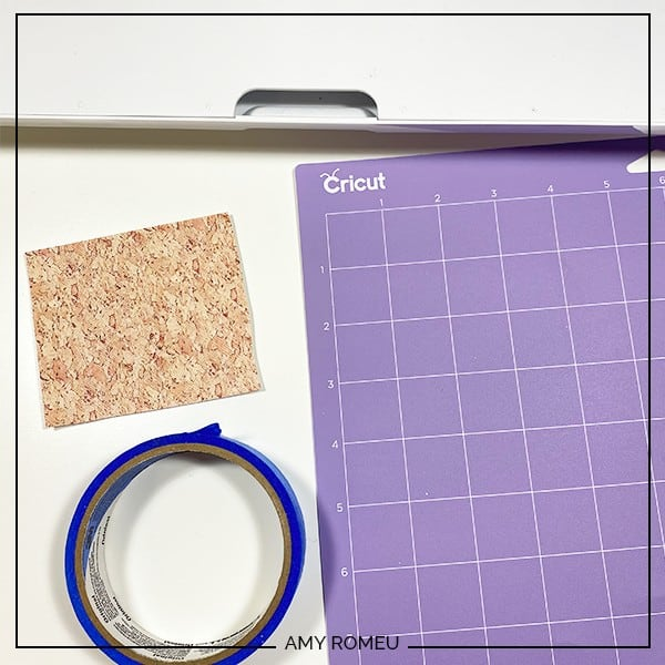how to make faux leather earrings with a Cricut Maker tutorial mat preparation