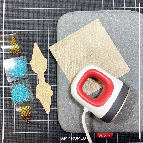 items needed to press HTV on faux leather