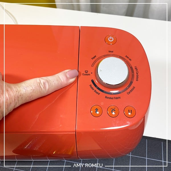 cricut explore air 2 setting material dial to custom