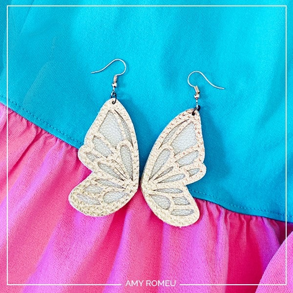 DIY Cricut Butterfly Earrings