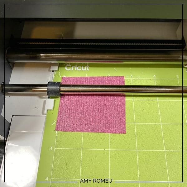 cutting pink glitter vinyl with a Cricut Maker