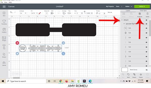 cricut design space screenshot duplicate