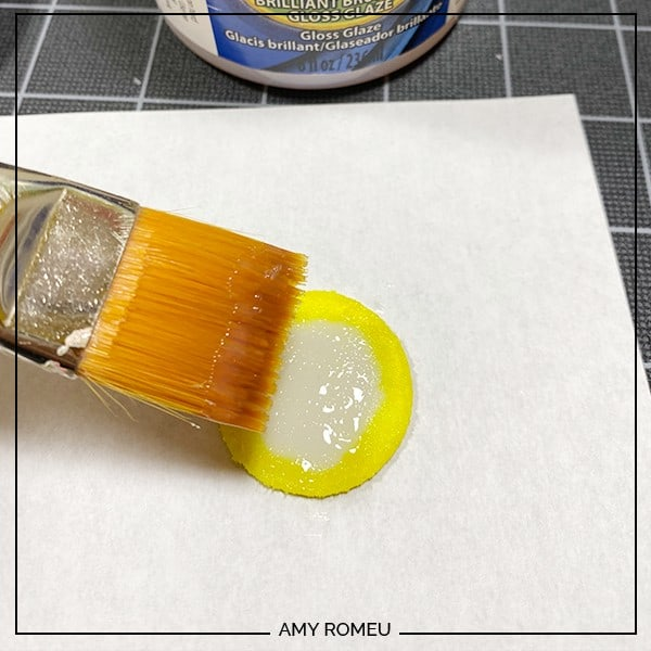 brushing faux leather with Triple Thick