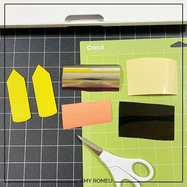 vinyl scraps to cut for pencil keychain
