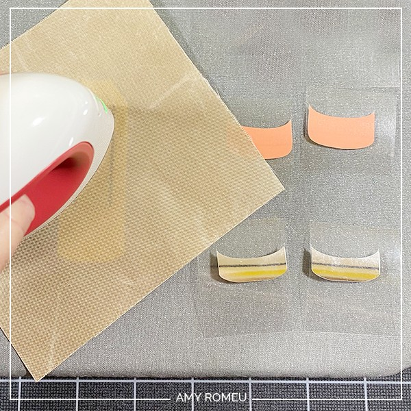 heat pressing vinyl on faux leather for pencil keychain