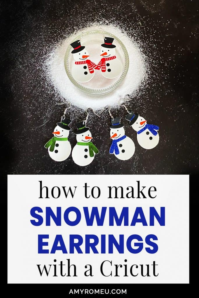 DIY Cricut Snowman Earrings