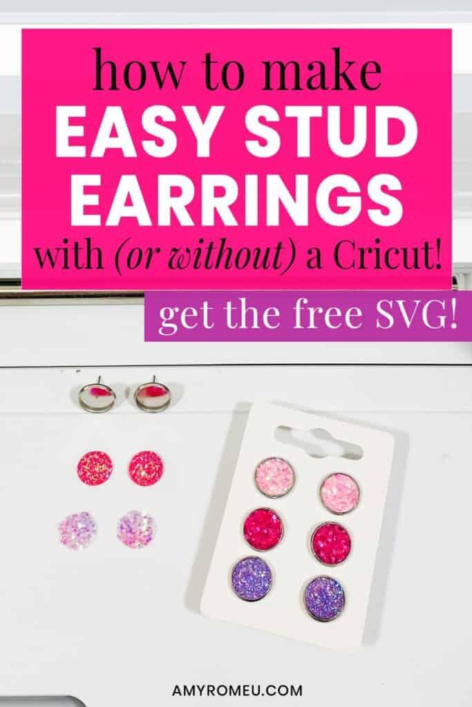 stud earrings on earring card